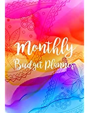 Monthly Budget Planner: Expense Finance Budget By A Year Monthly Weekly & Daily Bill Budgeting Planner And Organizer Tracker Workbook Journal | Happy Watercolor Design