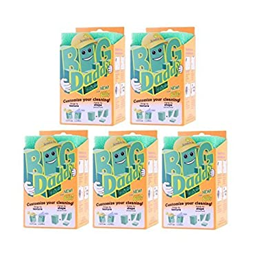 Scrub Daddy  Big Daddy  Scratch-Free, Customizable, Cleaning Sponge - VALUE PACK of 5