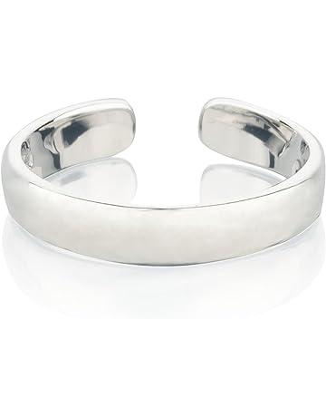 Zehenring Fußschmuck Damen Herren verstellbar Sterling Silber Schlange 1