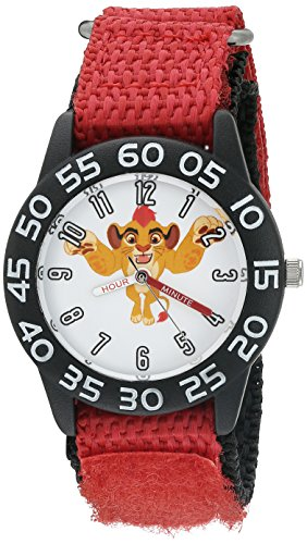 Disney Boy's 'Lion Guard' Quartz Plastic and Nylon Watch, Color:Red (Model: W002646)