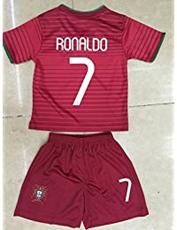 PickUp 2014 Cristiano Ronaldo Home Portugal Football Soccer Kids Jersey & Short FREE PORTUGAL GIFT (6-7 YEARS) compare