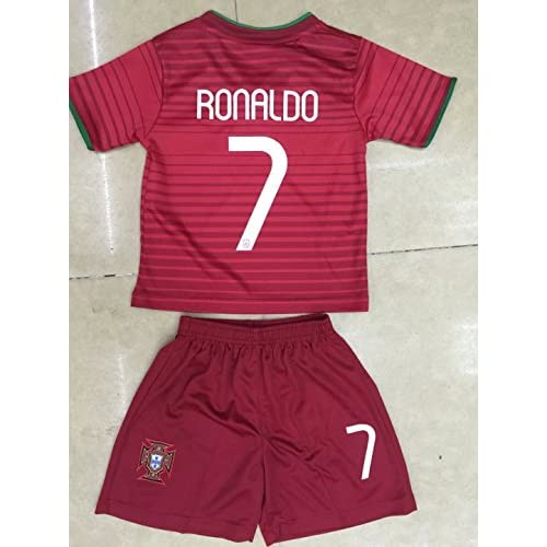 96531566aae 30%OFF 2014 Cristiano Ronaldo Home Portugal Football Soccer Kids Jersey    Short