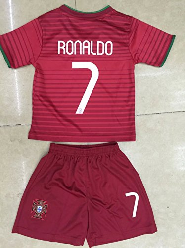 2014 Cristiano Ronaldo Home Portugal Football Soccer Kids Jersey & Short 6-7 YEARS)