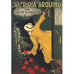 """VICTORIA ARDUINO CAFEE COFFEE ESPRESSO MACHINE TRAIN ITALIA ITALY ITALIAN 24"""" X 36"""" VINTAGE POSTER REPRO"""