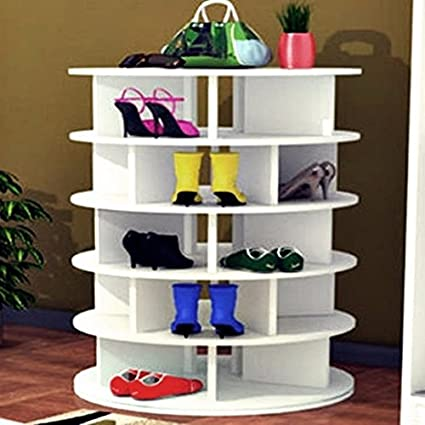 Shoe Storage Shoe Rack Lazy Susan Shoe Rack Shoe Organization Shoe Cabinet  Closet Organizer Spinning Shoe