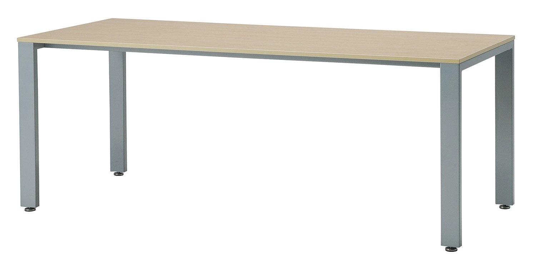 UTS-S1875 テーブル ミーティングテーブル 会議用テーブル W1800*D750*H700mm [3色から選べる天板] 天板:16mm厚 脚:シルバー 天板カラー:ホワイト(WH) B00JRW3OMS 天板:ホワイト 天板:ホワイト