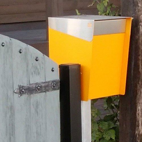 KATANABOX ''Mega'' - Stainless Steel Post-Mount Modern Design Mailbox, Lockable (Red) by KATANABOX (Image #2)