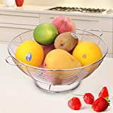 Tenta Kitchen Simplicity Collection Stainless Steel Wire Fruit Bowl/Basket/Rack/Stand/Tiered Server Strainer For Vegetables&Fruits Thick Pasta