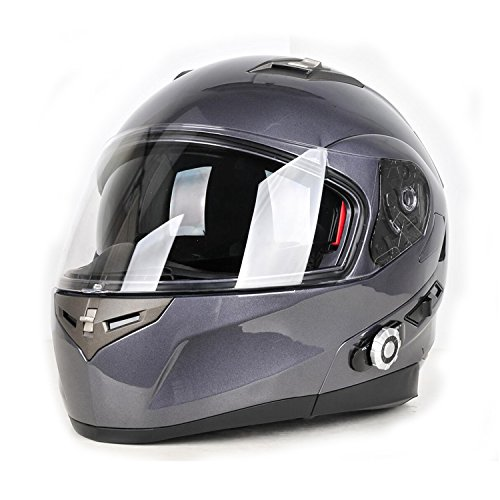 Motorcycle Bluetooth Helmets,FreedConn Flip up Dual Visors ...