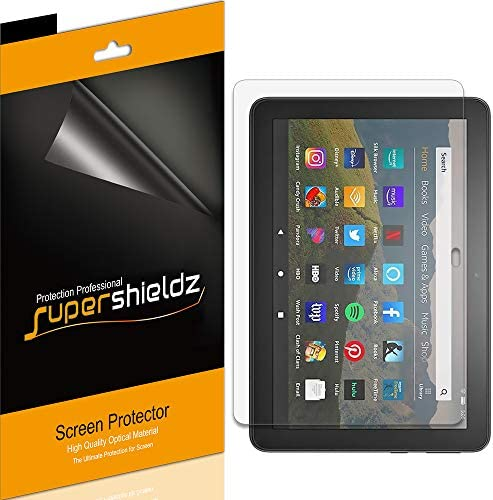 (3 Pack) Supershieldz for All-New Fire HD 8 and Fire HD 8 Plus Tablet 8-inch (tenth Generation - 2020 Release) Screen Protector, High Definition Clear Shield (PET)