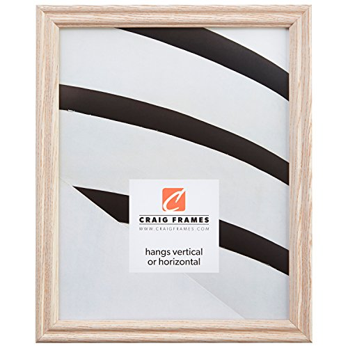 22x34 Picture / Poster Frame, Wood Grain Finish, .75'' Wide, Whitewash (200ASHWW) by Craig Frames Inc.