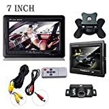 Dacawin Car Rearview monitor rearview backup camera system 7 TFT LCD Screen Night Vision (Black)