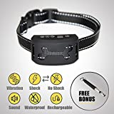 TrioGato's Dog Anti-Bark Collar. [Upgraded 2018] 3 Modes - Vibration, Sound & Harmless Shock. Rechargeable & Waterproof. Fits all Breeds and Sizes + BONUS Training Whistle