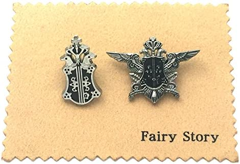 【Fairy Story】 黒執事 ファントムハイヴ家 紋章 家章 2種類のバッジ 【クロス付き】