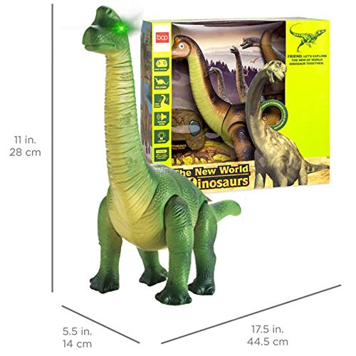 Liberty Imports Dino Planet Remote Control RC Walking Dinosaur Toy with Shaking Head, Light Up Eyes and Sounds (Brachiosaurus) by Liberty Imports (Image #6)
