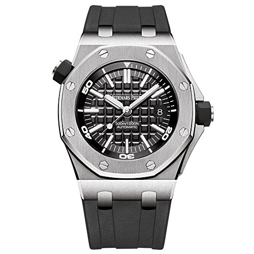 Audemars Piguet Royal Oak Offshore Diver Black Dial Black Rubber Mens Watch 15710STOOA002CA01