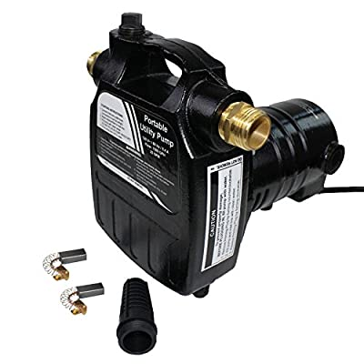 EXTRAUP 115Volt 1/2HP 1500 GPH Heavy Duty High Pressure Cast Iron Casing Water Transfer Utility Pump With Brass Connectors and Suction Stainer