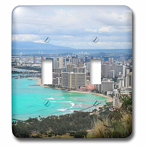 3dRose Cities Of The World - Waikiki Beach In Honolulu, Hawaii - Light Switch Covers - double toggle switch - In Outlets Waikiki