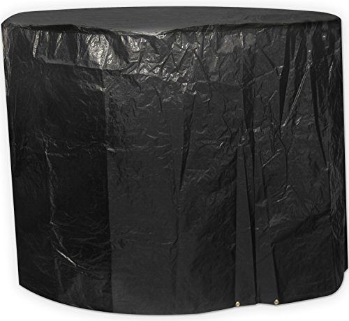 Black Small Round Outdoor Garden Patio Furniture Set Cover