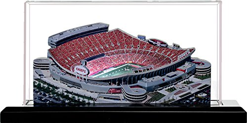 (Home Fields Kansas City Chiefs Arrowhead Stadium, Small Lighted in Display Case )