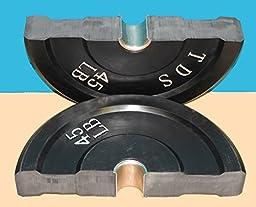 230 lb Rubber Bumper Plate Set