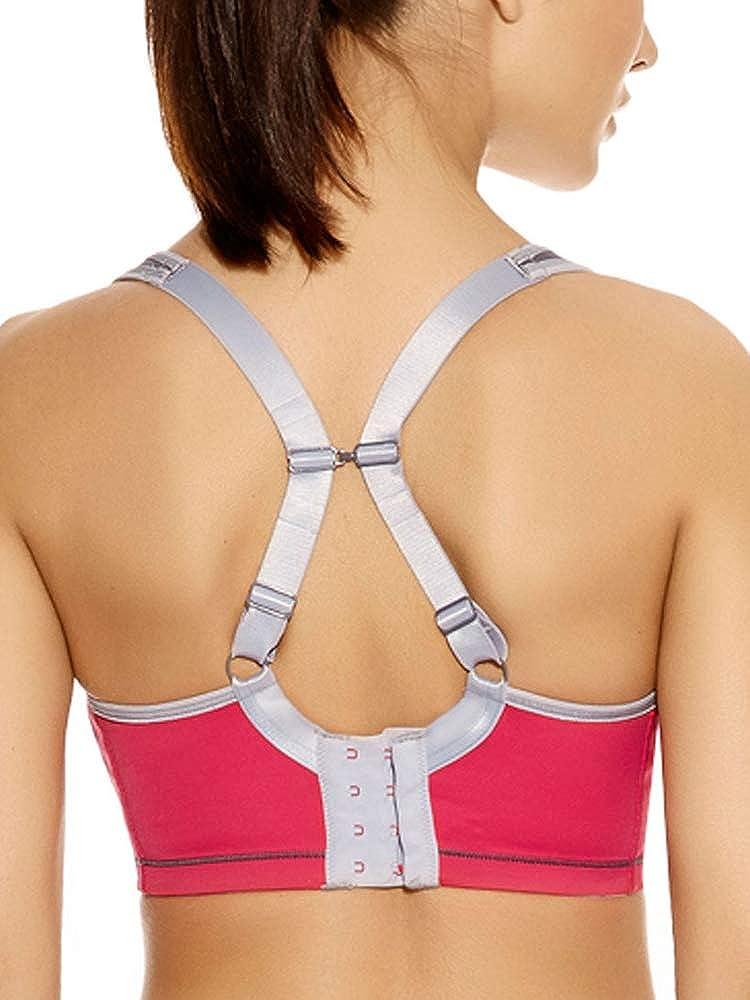 36B Freya Womens Active Underwire Moulded Sports Bra Hot Crimson