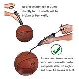 "Skoloo 10"" Portable Hand Air Ball Pump Inflator Kit"