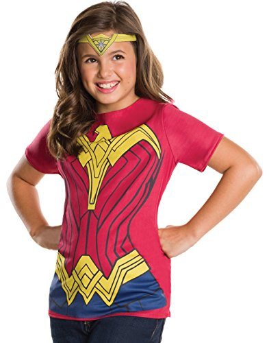 Rubie's Costume Batman v Superman: Dawn of Justice Wonder Woman Child Top and Tiara, Large