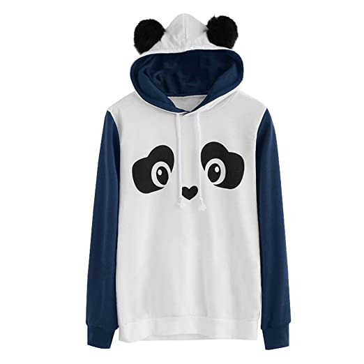 HYIRI Sweatshirt Long Sleeve Pullover,Fashion Womens Panda HoodieJumper Tops Blouse