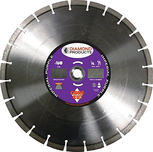 Diamond Products 78976 14-Inch Imperial Purple High Speed Diamond Blade