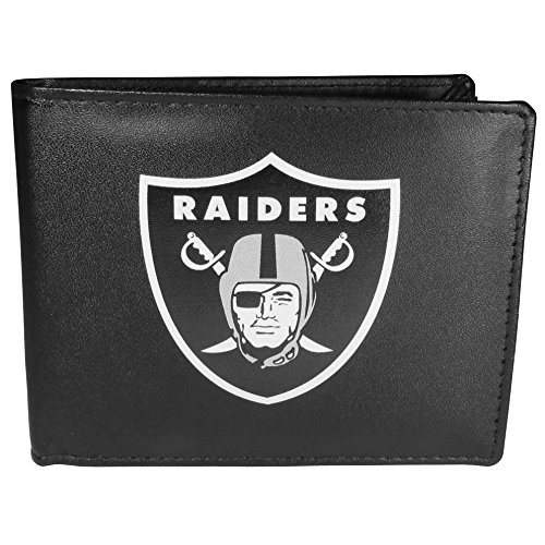 Siskiyou NFL Oakland Raiders Bi-Fold Wallet Logo, Large, Black