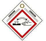 GHS Safety: Corrosion Pictogram Tag, English/Spanish (Pack of 25)