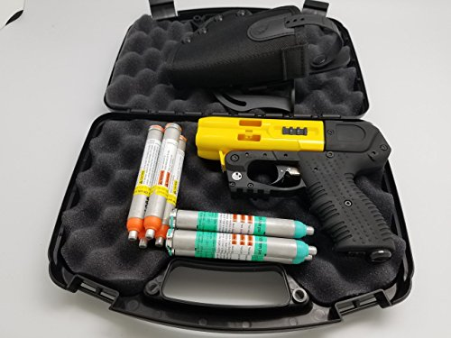 JPX 4 Shot Full Size LE Pepper Spray Gun Bundle with Practice Cartridges and Holster
