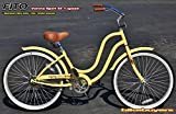 "Fito Verona Sport SF 1-speed Women, 26"" Beach Cruiser Bike Bicycle, Step-through & crank fordward design, Limted QTY Offer!"