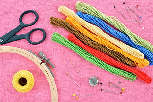 Paxcoo 100 Skeins Embroidery Floss and Embroidery Hoops Cross Stitch String and Embroidery Needles for Friendship Bracelet
