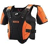 EVS Sports SV1R Race Ready Protective Snow Vest (Black/Orange, X-Small/Small)