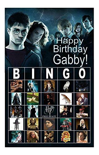 (SET A) Personalized Bingo Game Birthday Party Favor Top Rated (Harry (Personalized Bingo Games)