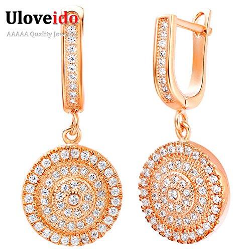 Slyq Jewelry Fashion Earring Women Long Vintage Crystal Earring silver