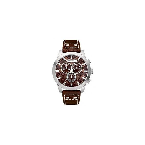 Marc Ecko Reloj Cronógrafo para Hombre de Cuarzo con Correa en Cuero E14539G2: Amazon.es: Relojes