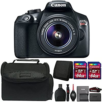 Canon EOS Rebel T6 18MP DSLR Camera with 18-55mm Lens and Accessories