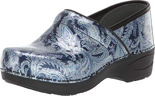 (Dansko Women's XP 2.0 Pull Up Clog (Blue Paisley Patent,)