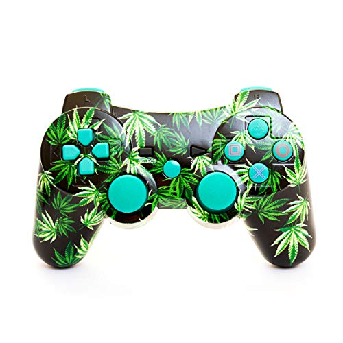 Arsenal Gaming PS3 Bluetooth Controller Multi Leaf Design NEW CURVE Design