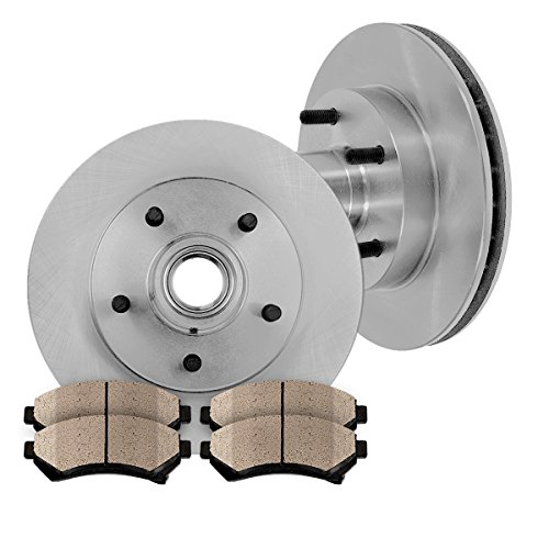 - FRONT 279 mm Premium OE 5 Lug [2] Brake Disc Rotors + [4] Ceramic Brake Pads