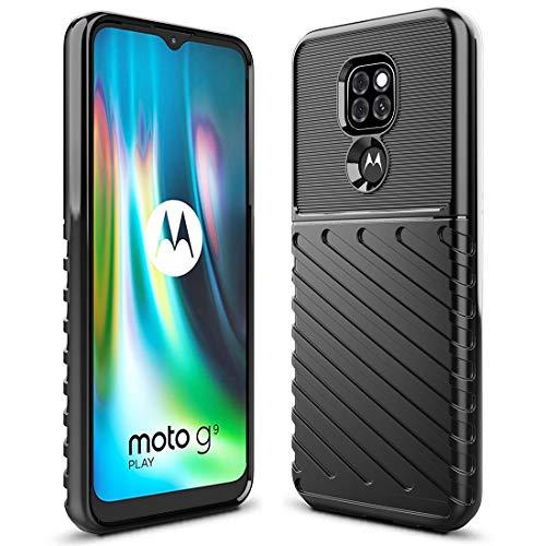 Funda Resistente Para Motorola G9 Play/e7 Plus Negra Sucnak