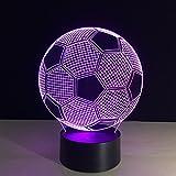 Sport Soccer Football 3D ILLusion Night Light 7 Colors Changing Table Desk Deco Lamp Bedroom Children Room Decorative Night Light
