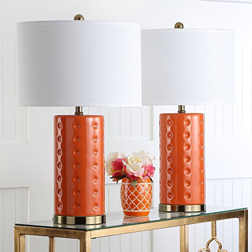 Safavieh Lighting Collection Roxanne Orange 26-inch Table Lamp (Set of 2)