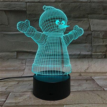 3D ナイトライト B072K3CDGQ 10609 SNOW-MAN SNOWMAN