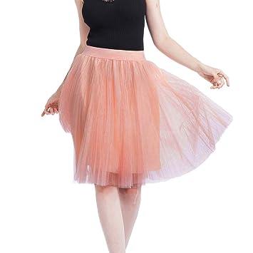 Tefamore Falda Corta de Plisada de Mujer Falda de Baile de ...