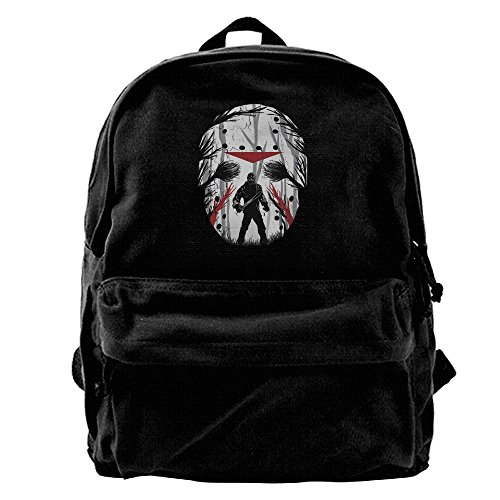 Canvas Jason Voorhees Daypack Ladies Unique Side Zip Closure