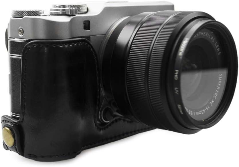 X-A10 Black MEETBM ZIMO,1//4 inch Thread PU Leather Camera Half Case Base for FUJIFILM X-A3 Color : Black